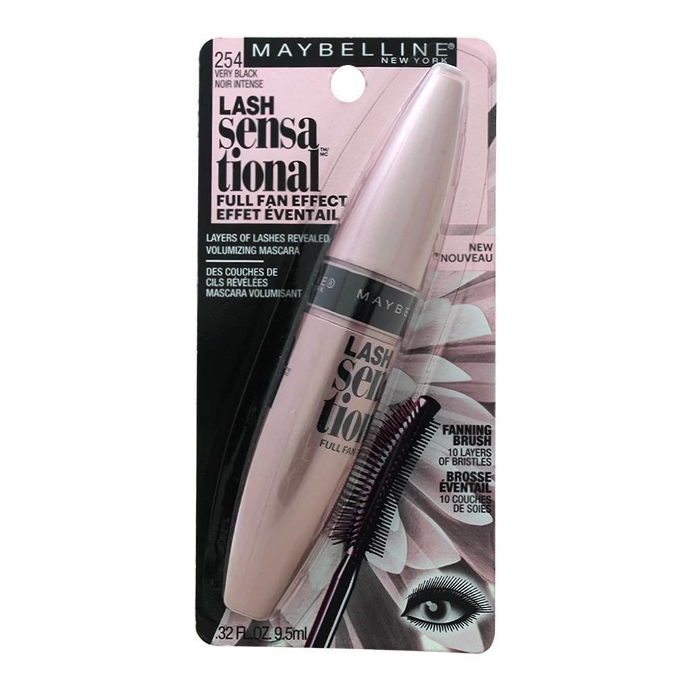 19de89cf1c8 Maybelline MAYBELLINE Lash Sensational Mascara, Very Black 254 Washable