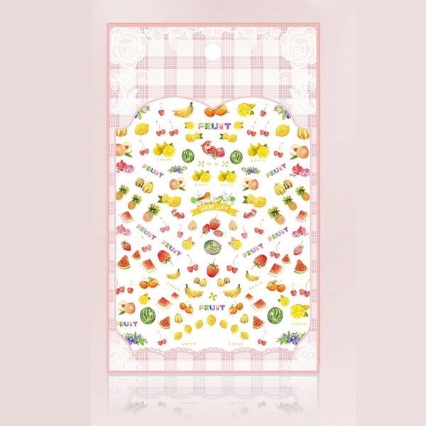 1 Sheet Various Fruits 3D Nail Art Stickers Cute Mini Fruits Nail Decals