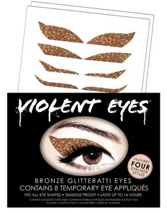 Violent Eyes - Bronze Glitteratti - Apliques temporarios