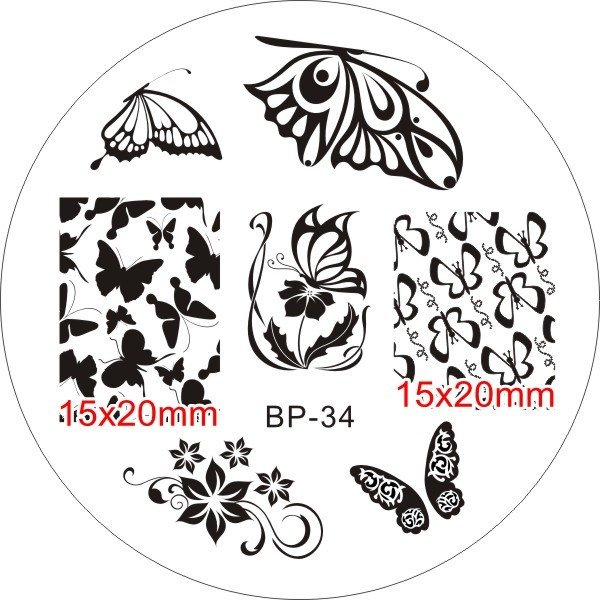 Nail Art Stamp BORN PRETTY BP34