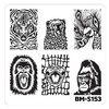 Bundle Monster Nail Art Stamping Plates- BM-S153