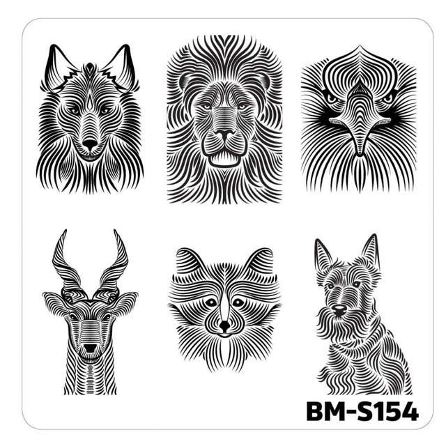 Bundle Monster Nail Art Stamping Plates- BM-S154