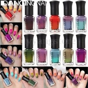 1 Bottle 6ml Thermal Color Changing Nail Polish