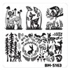 Bundle Monster Nail Art Stamping Plates- BM-S163