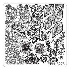 Bundle Monster Nail Art Stamping Plates- BM-S226