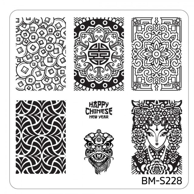 Bundle Monster Nail Art Stamping Plates- BM-S228