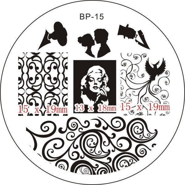 Nail Art Stamp BORN PRETTY BP15 - comprar online