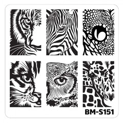 Bundle Monster Nail Art Stamping Plates- BM-S151