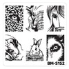 Bundle Monster Nail Art Stamping Plates- BM-S152