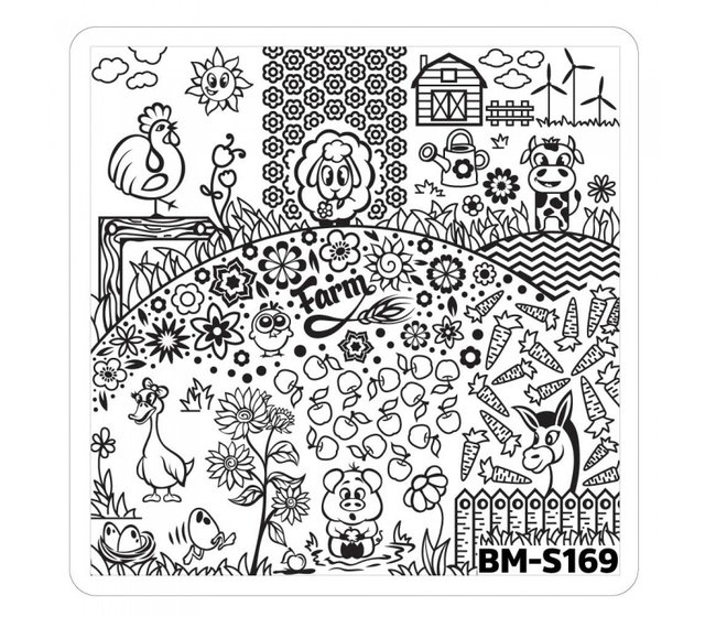 Bundle Monster Nail Art Stamping Plates- BM-S169