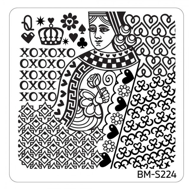 Bundle Monster Nail Art Stamping Plates- BM-S224