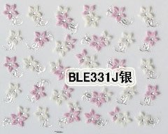Pink Flower 3D Nail Art Tips Decals Stickers Manicure en internet