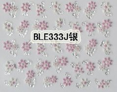 Pink Flower 3D Nail Art Tips Decals Stickers Manicure - tienda online
