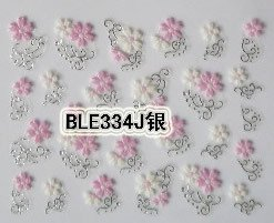 Imagen de Pink Flower 3D Nail Art Tips Decals Stickers Manicure