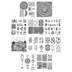 Bundle Monster 10pc Festival Stamping Plates Collection