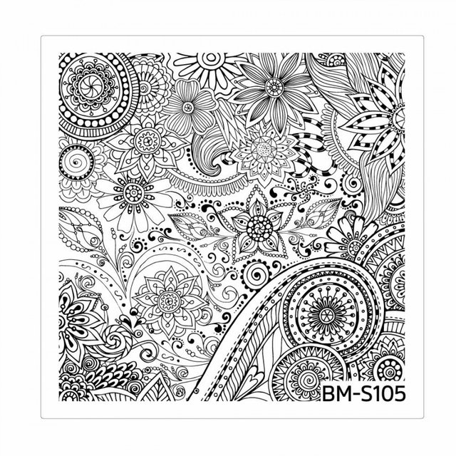 Bundle Monster Nail Art Stamping Plates- BM-S105