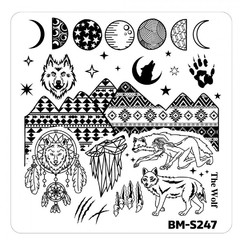 Bundle Monster Nail Art Stamping Plates- BM-S247
