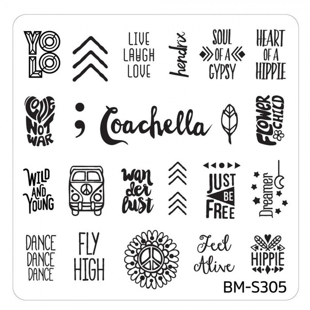 Bundle Monster Nail Art Stamping Plates- BM-S305