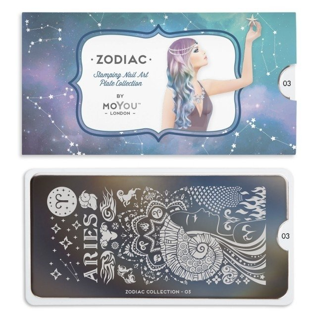 MoYou-London Stamping Nail Art Zodiac plate collection 03 - comprar online