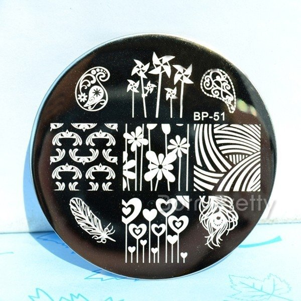 Nail Art Stamp BORN PRETTY BP51