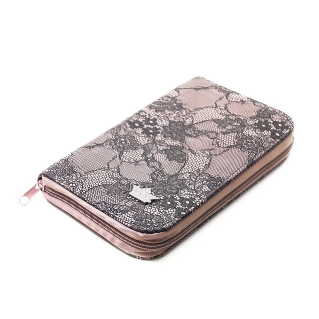 Pueen - 168 Stamping Plates Holder - Light Pink
