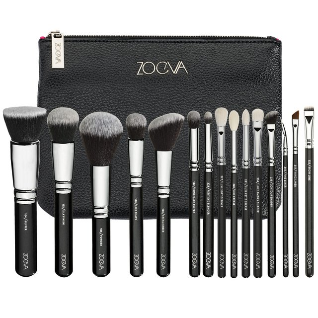 Zoeva Complete Set 15 Brushes + Clutch