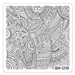 Bundle Monster Nail Art Stamping Plates- BM-S119