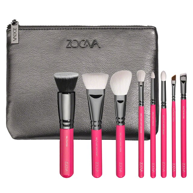 Zoeva PINK ELEMENTS Classic Set 8 Brushes + Clutch