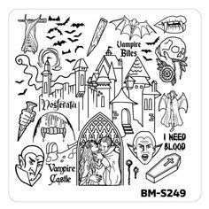 Bundle Monster Nail Art Stamping Plates- BM-S249
