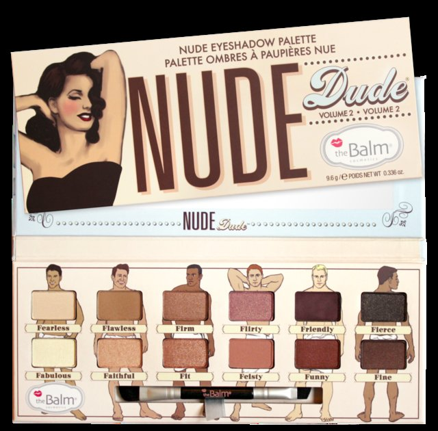 The Balm Nude Dude -  Volume 2 - Nude Eyeshadow Palette
