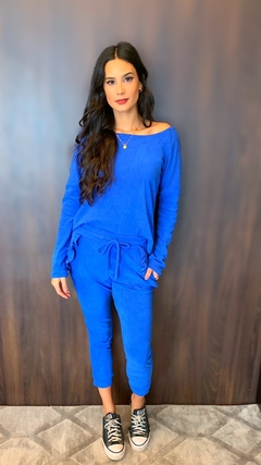 Blusa Plush Skinny Azul Royal