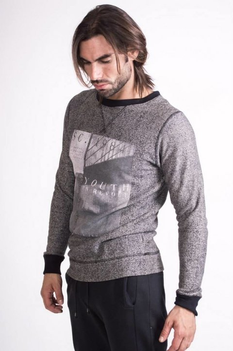 Buzo Slim Fit Cuello Redondo Bret - Relax Multimarcas