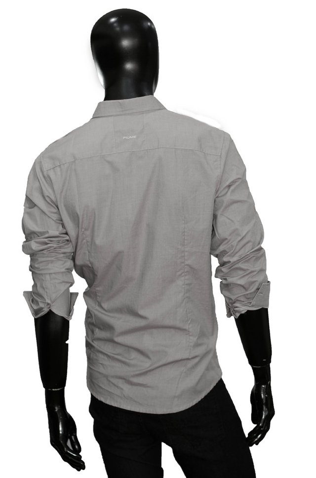 Camisa Gris De Vestir Double Pocket - Relax Multimarcas en internet