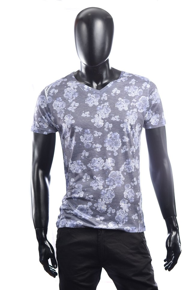 Remera entallada full estamp sublimada Flores - Relax Multimarcas