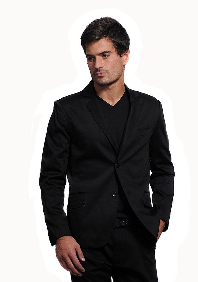 Saco Negro Sport Slim Fit  Recortes - Relax Multimarcas