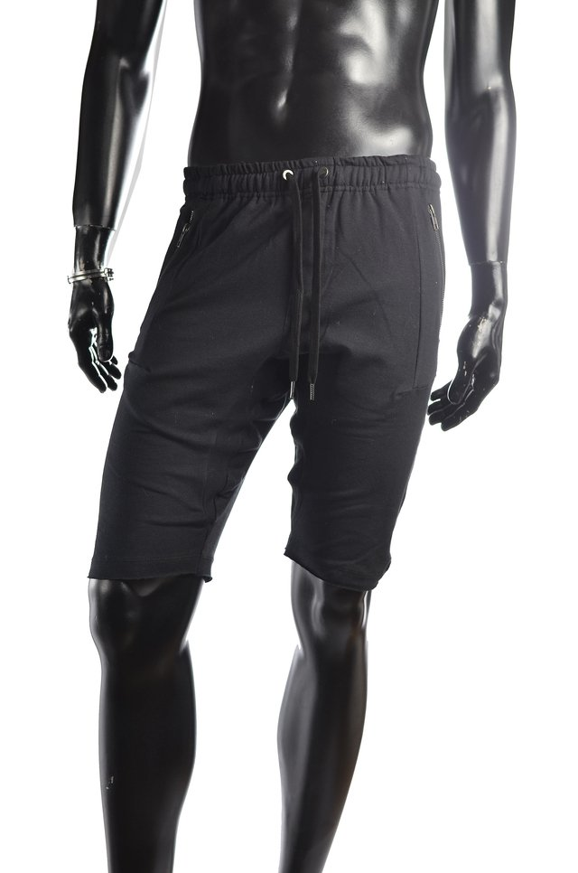 Short corto de jogging negro Fit - Relax Multimarcas