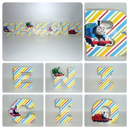 Letras corpóreas de papel  - Thomas & Friends - comprar online