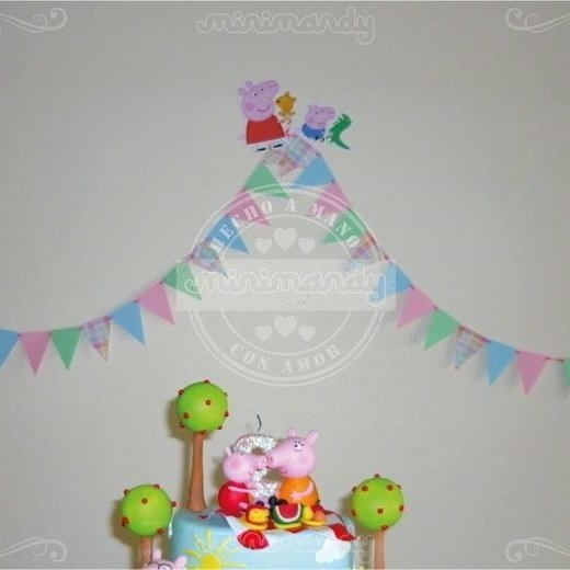 Banderines Pocket (15 unidades) - Peppa Pig