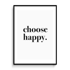 Cuadro Choose Happy White - comprar online