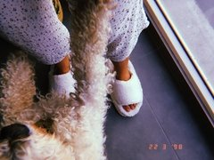 Pantuflas Fluffy White en internet