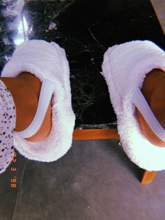 Pantuflas Fluffy White