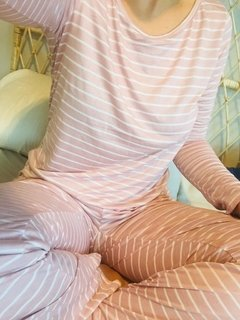Pj Set Pink Stripes