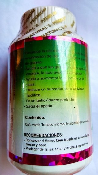 CAFE VERDE CAPSULAS 500 MG en internet