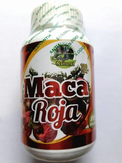 MACA ROJA 100 CAPSULAS 500 MG 100% NATURAL