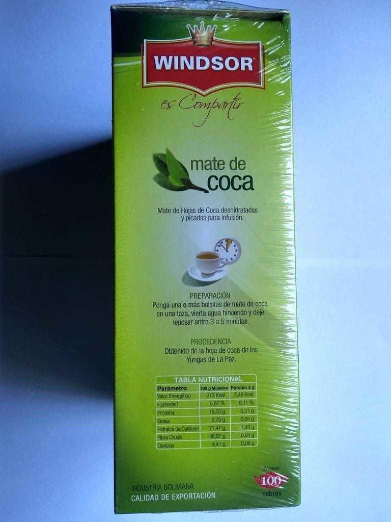 MATE DE COCA WINDSOR 100 SOBRES - ARIADNA NATURAL SALTA