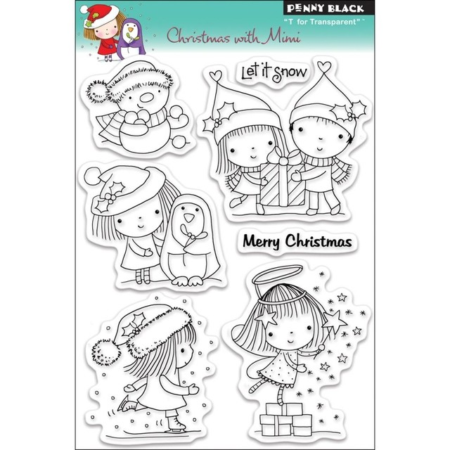 Sellos Christmas With Mimi Clear Stamp Penny Black