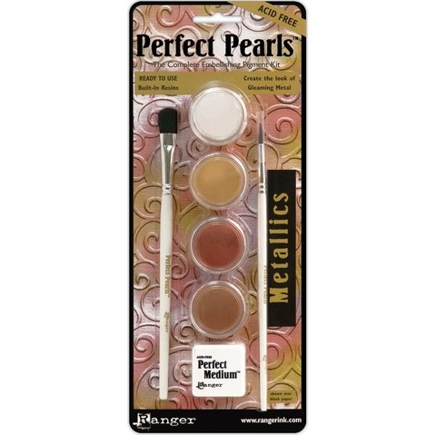 KIT PERFECT PEARLS PIGMENT POWDER METALLICS