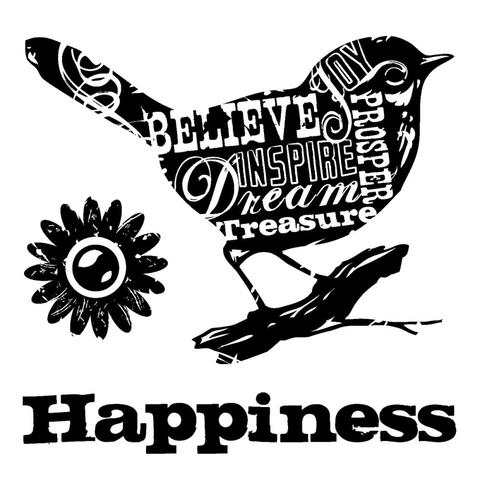Sello Happiness Bird Inkadinkado