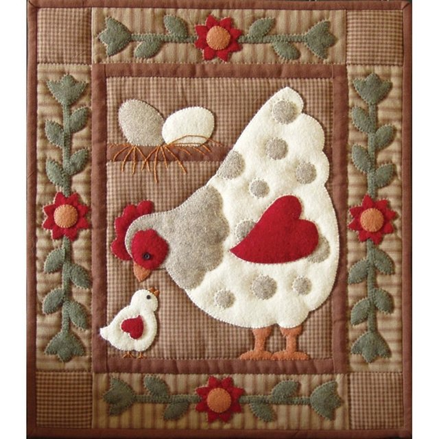 Kit completo de Quilting Gallina Spotty Hen Rachel's Of Greenfield