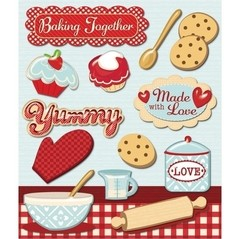 Stickers Tridimensionales de Baking Together K&Company - comprar online